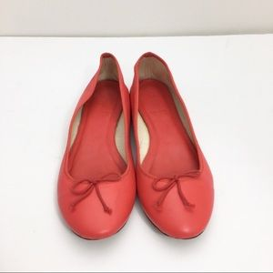 J Crew Red Leather Ballerina Slipper Used